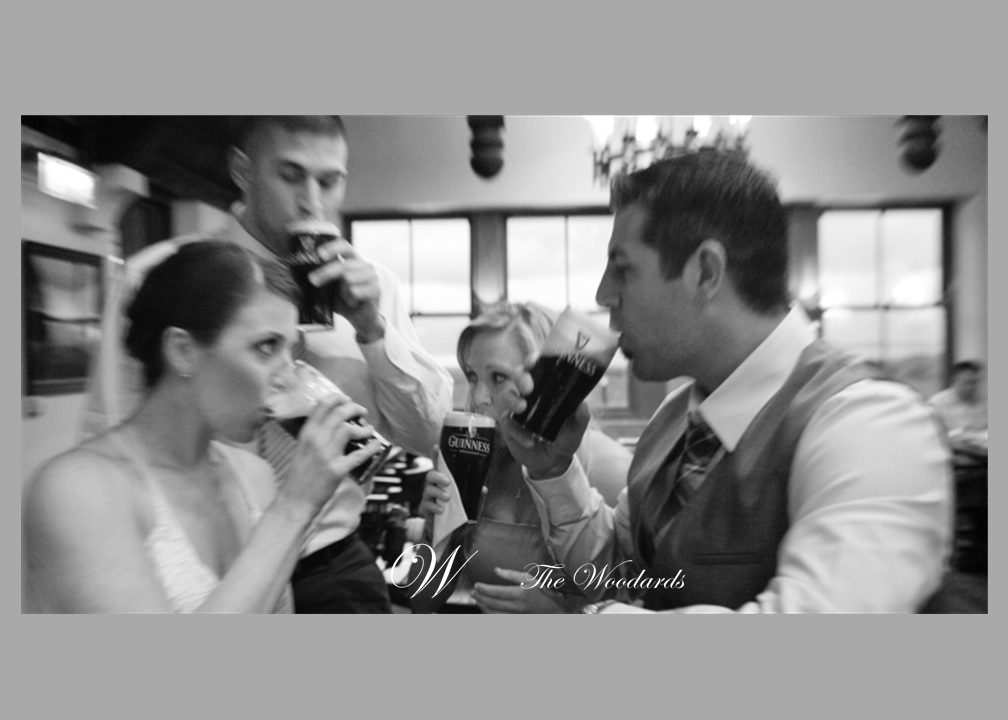 Bridal Party Toast With Pint Guinness