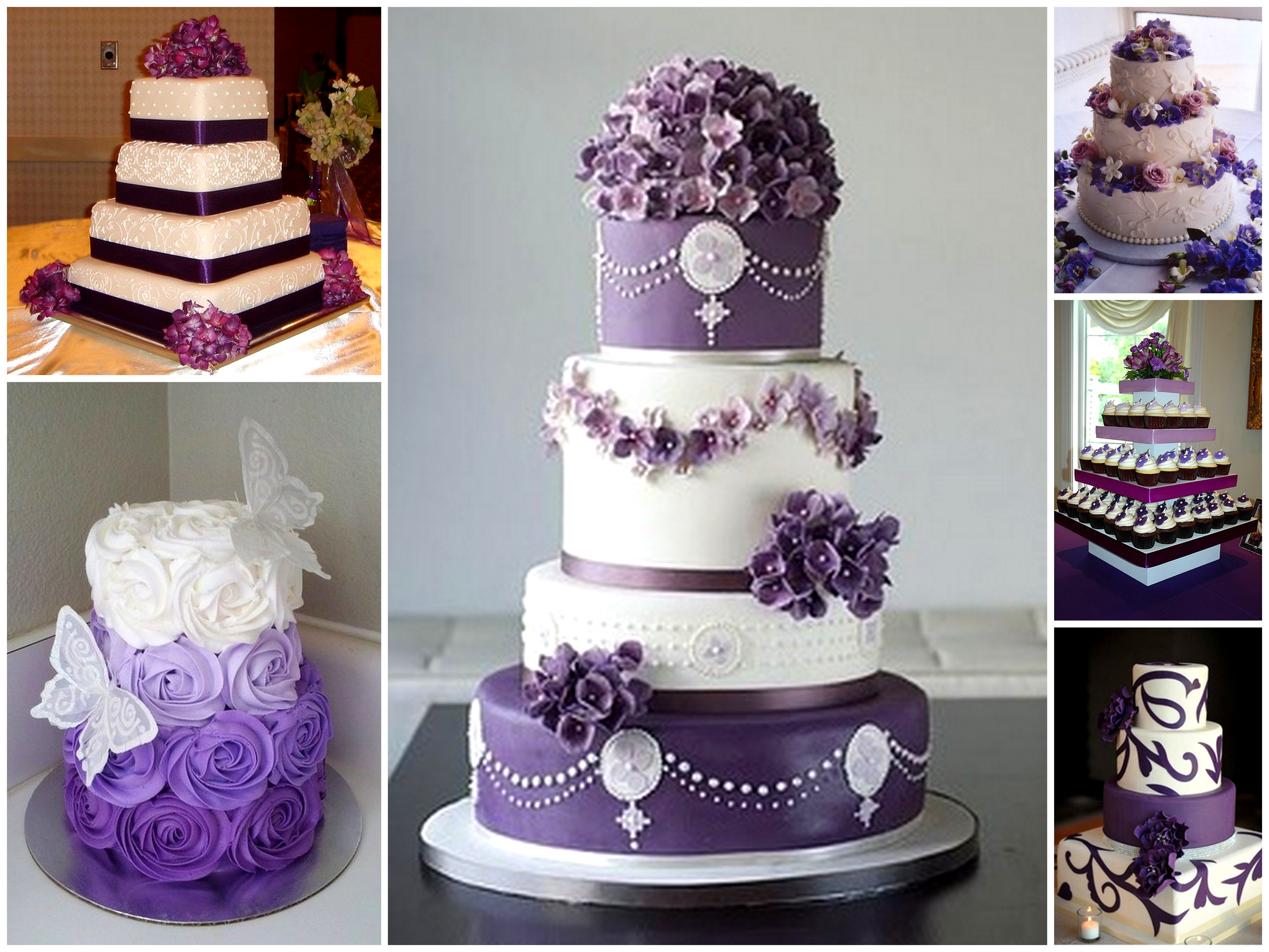 Purple Wedding Cake Dream Irish Wedding