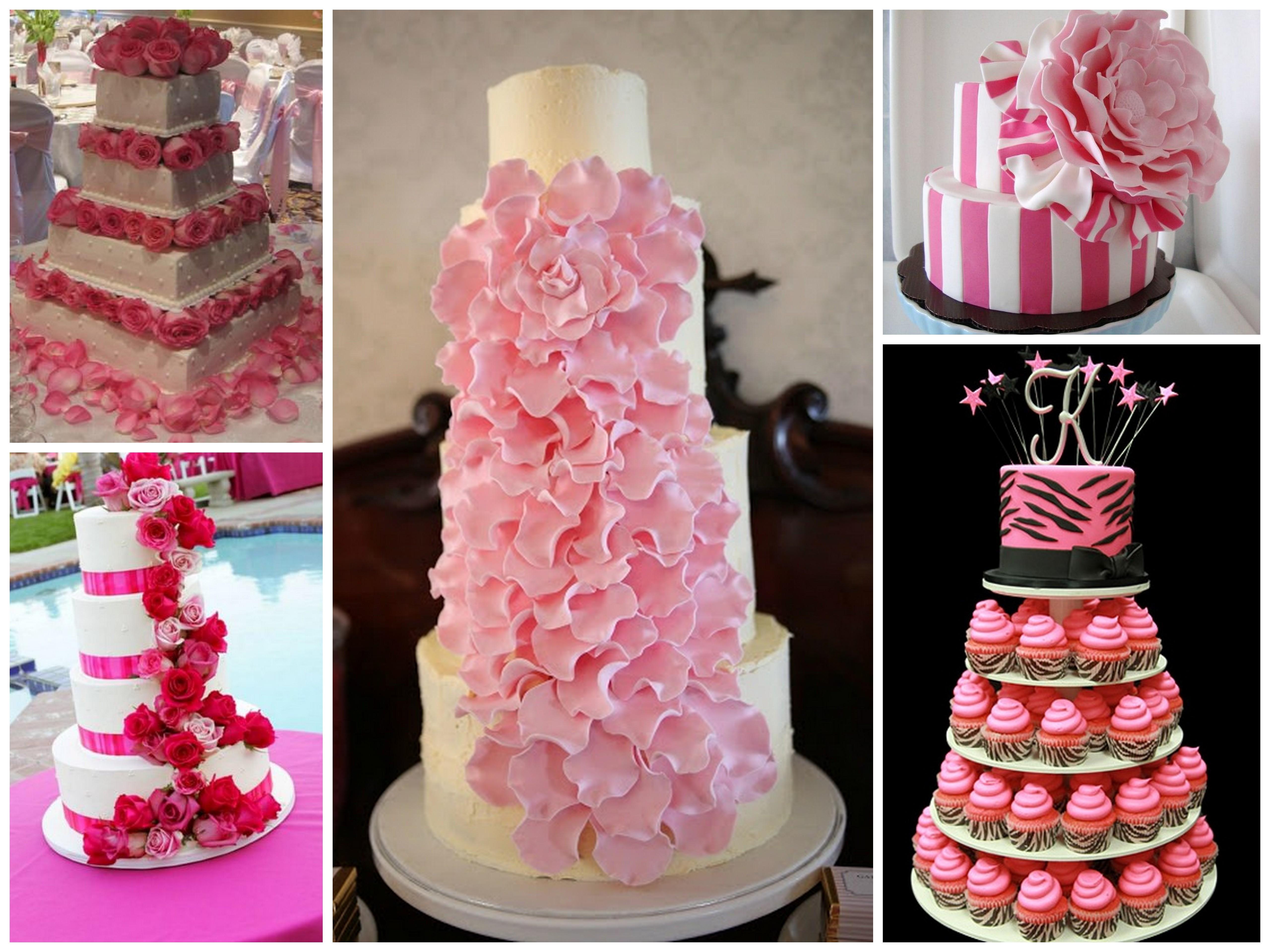 Pink wedding cake - Dream Irish Wedding