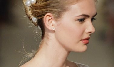 Wedding Hairstyle inspiration from 2015 bridal fashion week New York