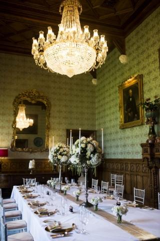 Wedding tablescape Ashford Castle