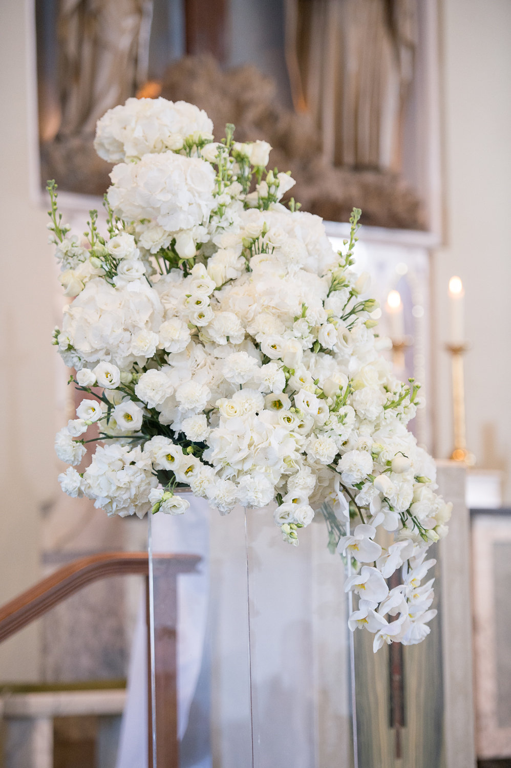 Ceremony flower arrangement