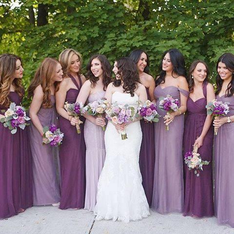 750ac85d07d Mix Violet and Lavender for your Bridesmaid s dresses