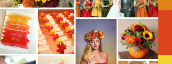Orange, Red And Yellow For A Fall Wedding