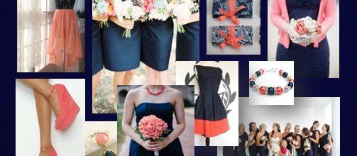 New Colour Palette for 2014 : Romantic Coral & Navy Blue
