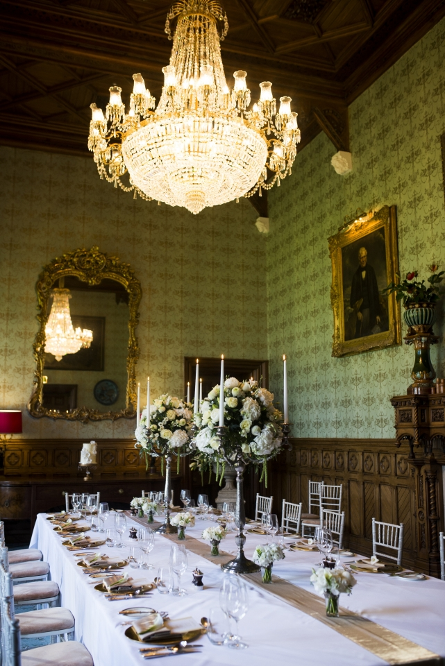 Wedding tablescape Ashford Castle