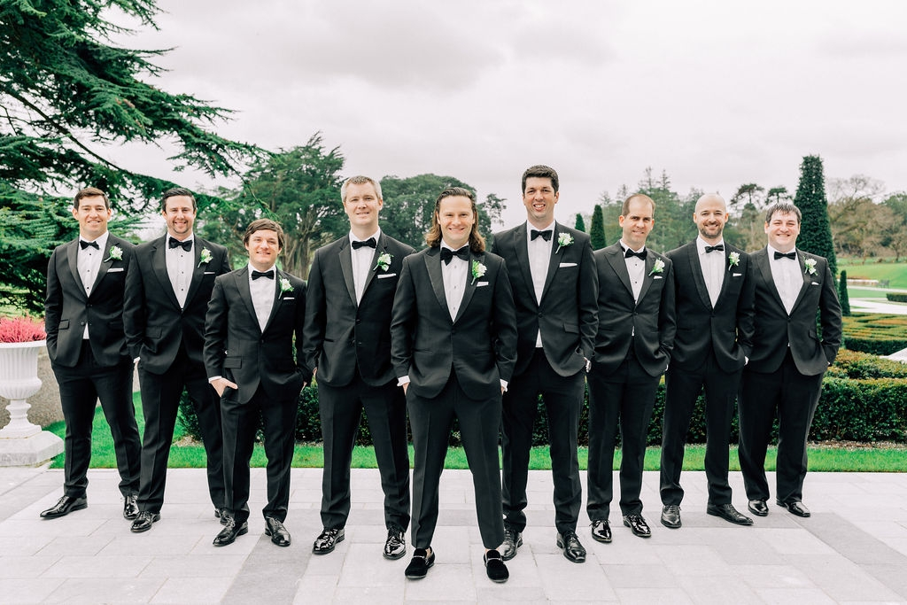 Wedding Party dressed in Tux