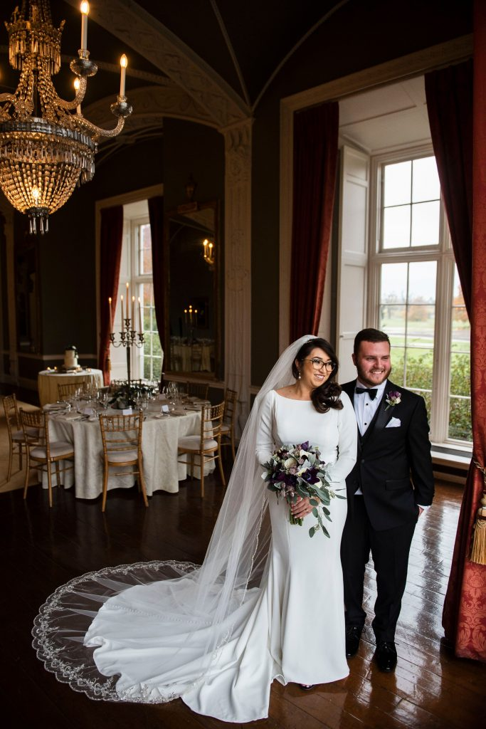Couple in front of reception room