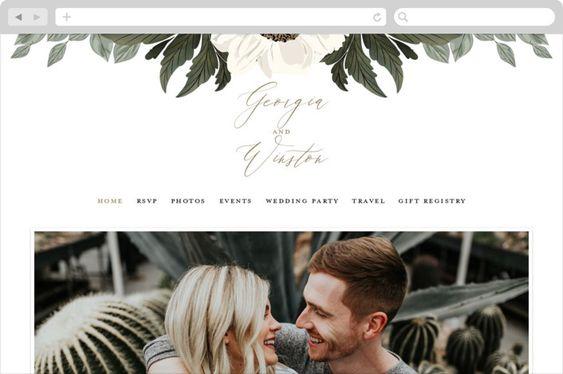 Example of Wedding Website