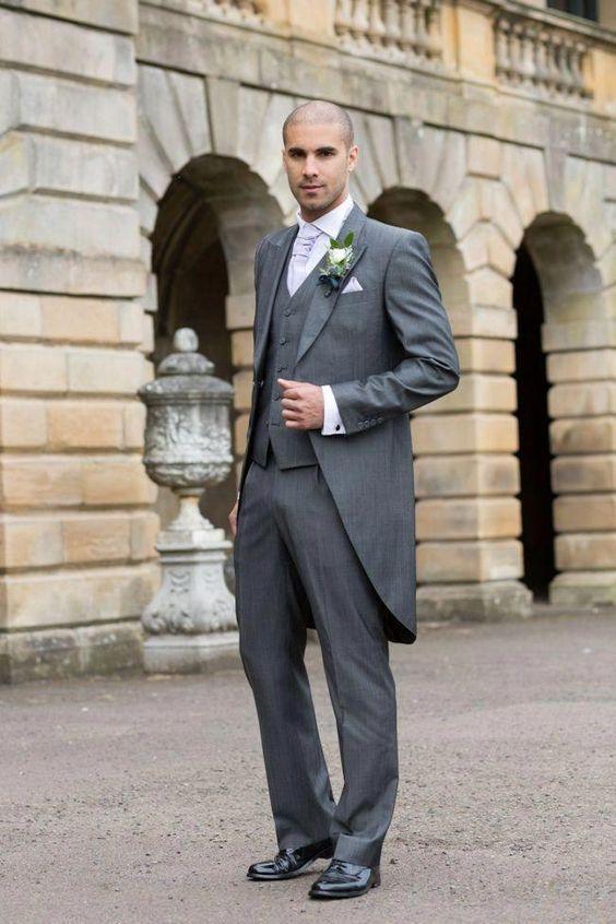 Man wearing a long-tail tuxedo