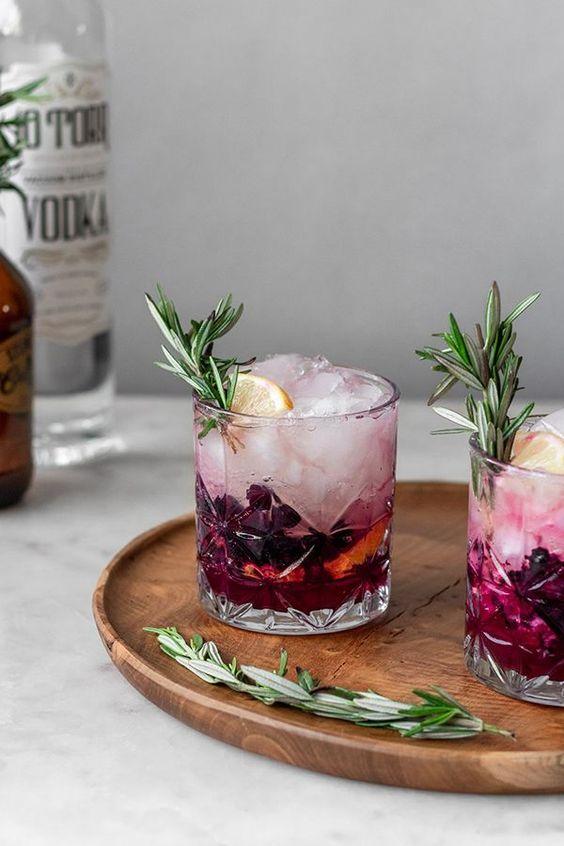 Blueberry Lemon Vodka Spritz