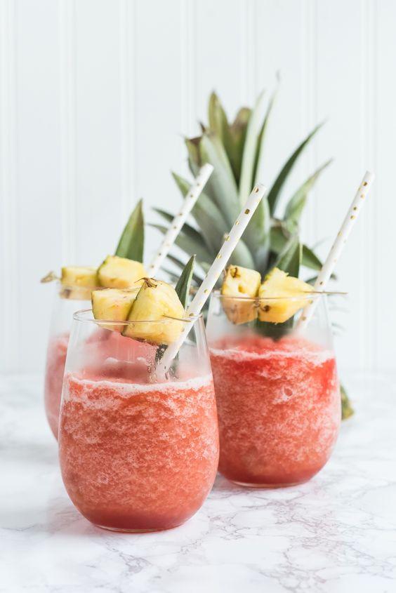 Coconut Pineapple Rum Slush