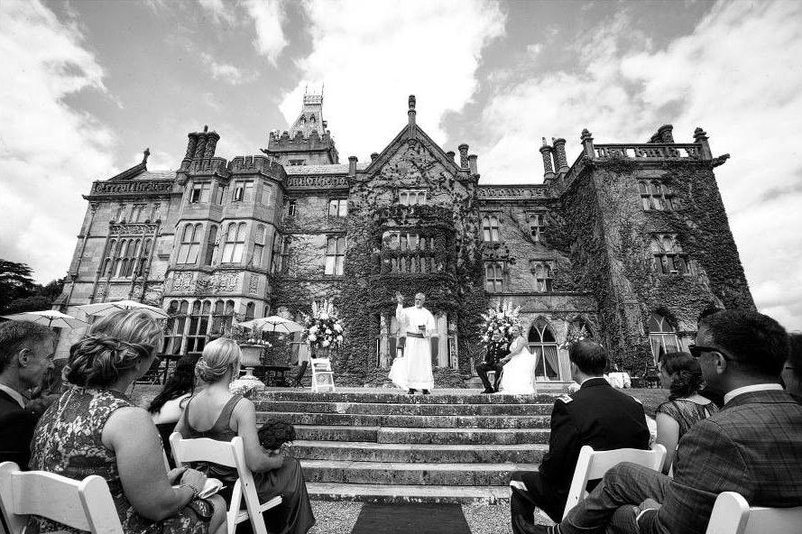 Irish celebrant during wedding ceremony