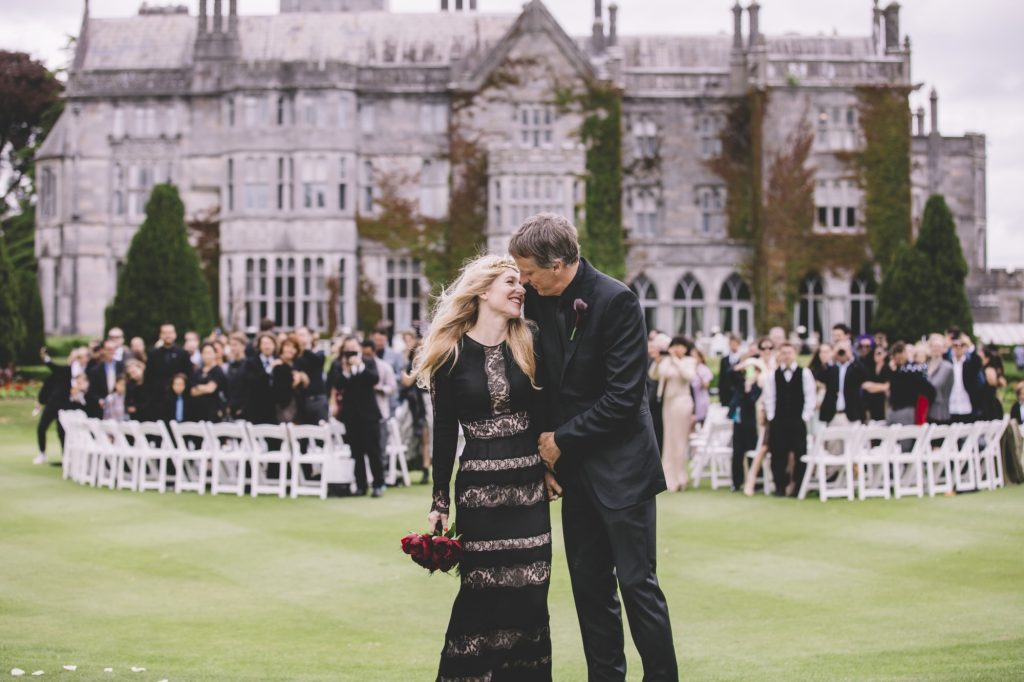 Couple in front of Adare Manor