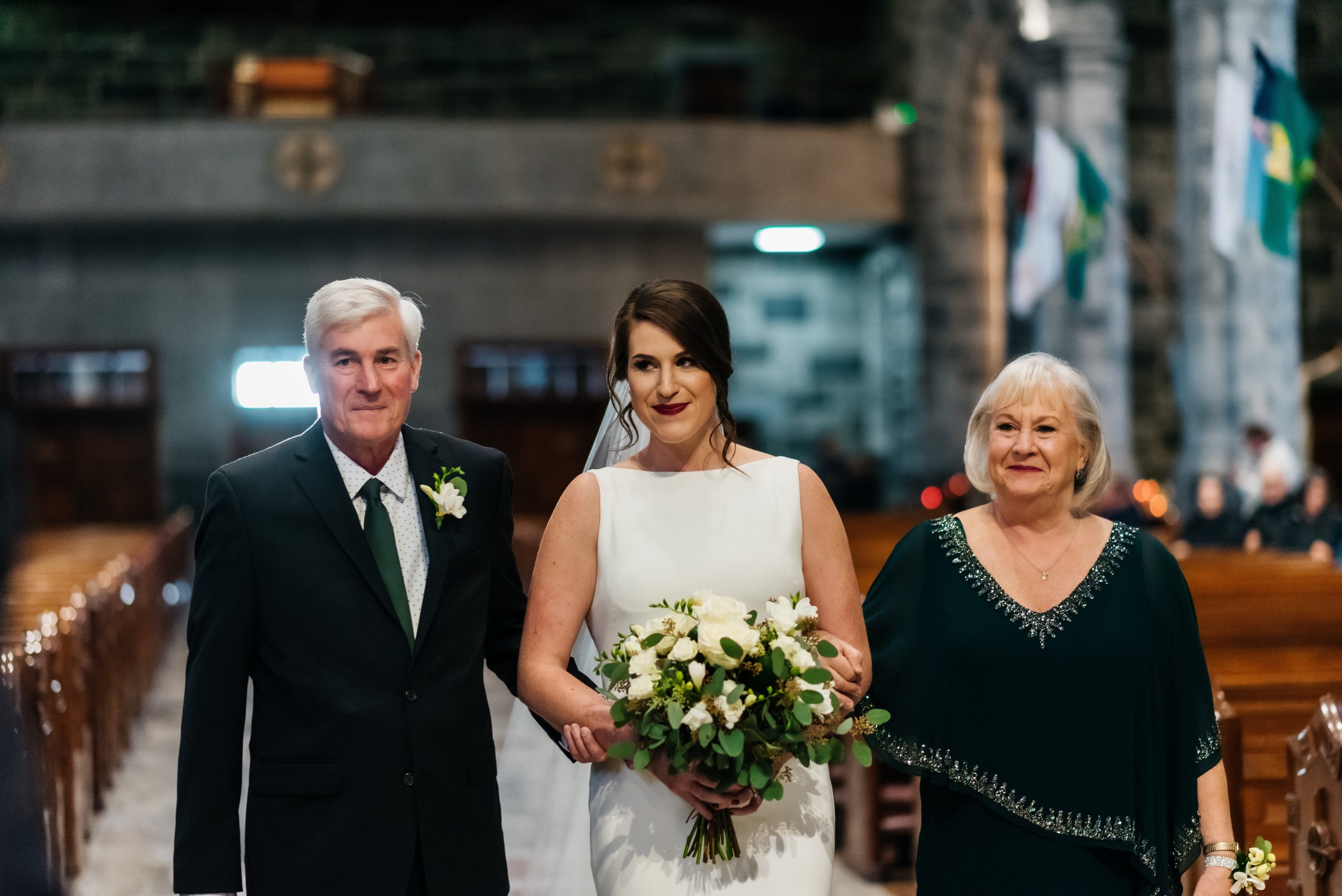 Bridal Processional with her Parents