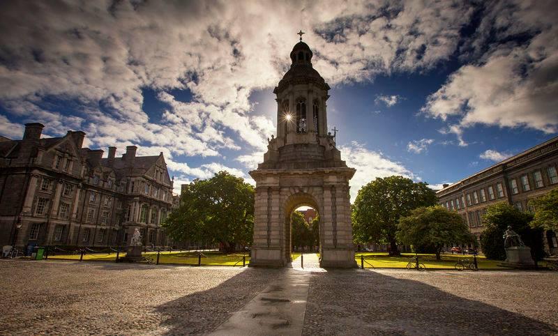 Trinity College in Dublin City