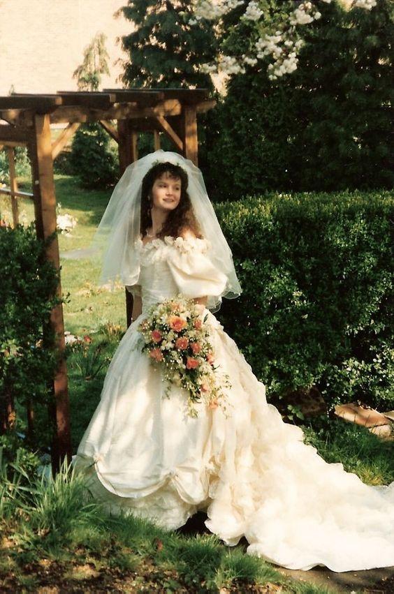 1980s Wedding Dress