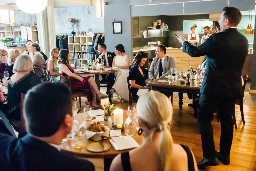 Wedding at a restaurant