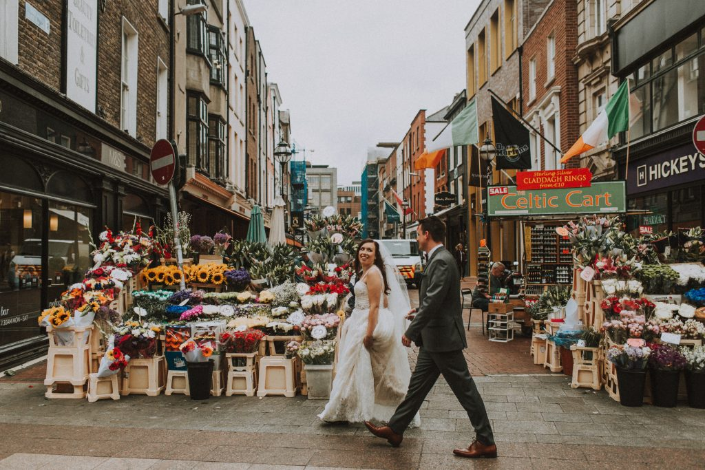 Couple strolling on the streets