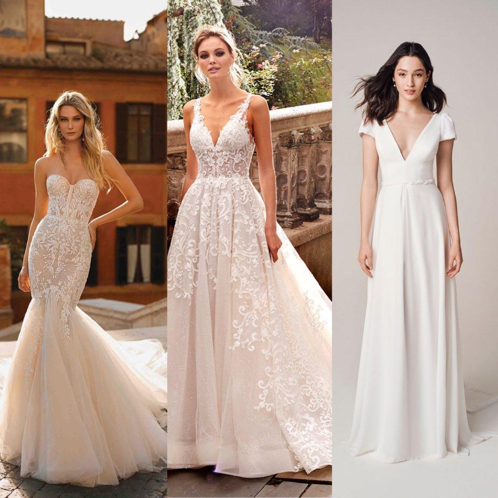 Berta Privée mermaid wedding dress, Kleinfeld A-line wedding dress, Jesus Peiro sheath wedding dress