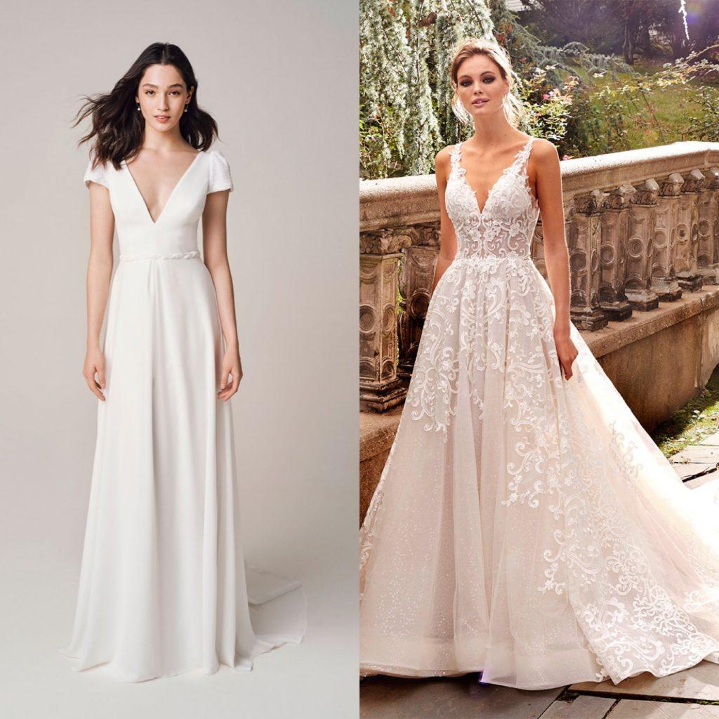 Jesus Peiro sheath wedding dress, Kleinfeld A-line wedding dress