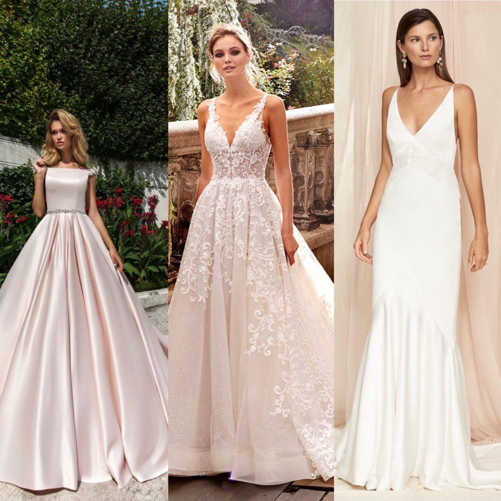 Wona concept ball gown wedding dress, Kleinfeld A-line wedding dress, Savannah Miller empire waist wedding dress